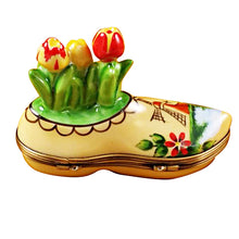 "Load image into Gallery viewer, Rochard ""Dutch Clog with Tulips"" Limoges Box"