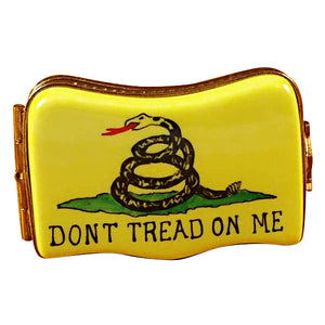"Rochard ""Don't Tread On Me Flag"" Limoges Box"