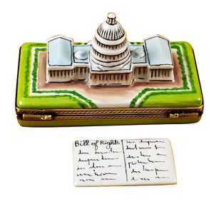 "Rochard ""Capitol Dome with Removable Bill of Rights"" Limoges Box"