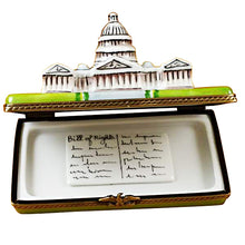 "Load image into Gallery viewer, Rochard ""Capitol Dome with Removable Bill of Rights"" Limoges Box"