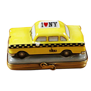 "Rochard ""Yellow Taxi - I Love New York"" Limoges Box"