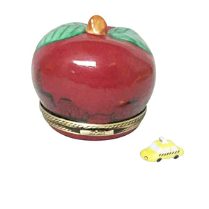 "Rochard ""I Love New York Apple with Removable Taxi"" Limoges Box"