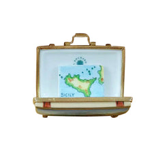 "Load image into Gallery viewer, Rochard ""Sicily Suitcase"" Limoges Box"