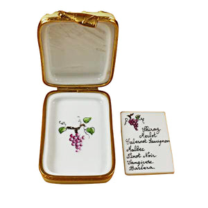 "Rochard ""Vineyard with Removable Wine List"" Limoges Box"