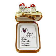 "Load image into Gallery viewer, Rochard ""Vineyard with Removable Wine List"" Limoges Box"
