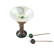 "Load image into Gallery viewer, Rochard ""Martini Glass with Olives"" Limoges Box"