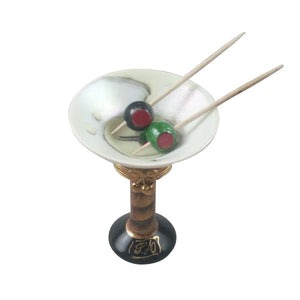 "Rochard ""Martini Glass with Olives"" Limoges Box"