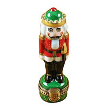 "Load image into Gallery viewer, Rochard ""Nutcracker on Green Base"" Limoges Box"