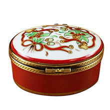 "Load image into Gallery viewer, Rochard ""Oval-Merry Christmas"" Limoges Box"