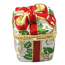 "Load image into Gallery viewer, Rochard ""Christmas Gift Box with Red Bow"" Limoges Box"