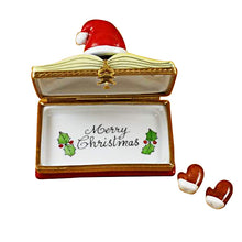 "Load image into Gallery viewer, Rochard ""Christmas Book ""Christmas Stories"" with Removable Gloves"" Limoges Box"