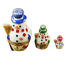 "Load image into Gallery viewer, Rochard ""Nesting Snowman Set"" Limoges Box"