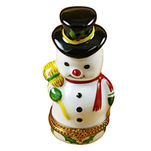 "Load image into Gallery viewer, Rochard ""Snowman"" Limoges Box"