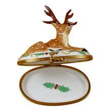 "Load image into Gallery viewer, Rochard ""Reindeer Christmas"" Limoges Box"