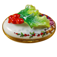 "Load image into Gallery viewer, Rochard ""Holly Leaf on Oval"" Limoges Box"
