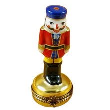 "Load image into Gallery viewer, Rochard ""Nutcracker on Gold Base"" Limoges Box"