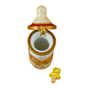 "Rochard ""Baby Bottle - My First Christmas"" Limoges Box"