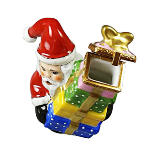 "Rochard ""Santa with Presents"" Limoges Box"