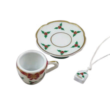 "Load image into Gallery viewer, Rochard ""Christmas Teacup with Teabag"" Limoges Box"