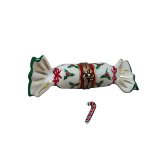 "Rochard ""Christmas Cracker with Candy Cane"" Limoges Box"