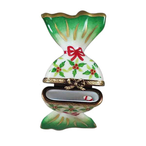 "Rochard ""Holly Candy with Candy Cane"" Limoges Box"