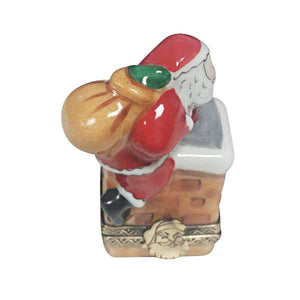 "Rochard ""Santa on Roof"" Limoges Box"