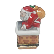 "Load image into Gallery viewer, Rochard ""Santa on Roof"" Limoges Box"