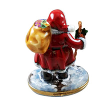 "Load image into Gallery viewer, Rochard ""Santa Claus with Cane"" Limoges Box"