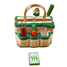 "Load image into Gallery viewer, Rochard ""Gardening Bag with Tools"" Limoges Box"