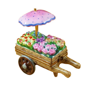 "Rochard ""Flower Cart"" Limoges Box"