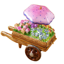 "Load image into Gallery viewer, Rochard ""Flower Cart"" Limoges Box"