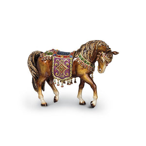 Jay Strongwater Tapestry Horse Figurine - Jewel