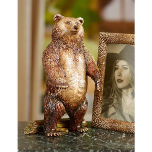 Jay Strongwater Woodrow Bear Figurine