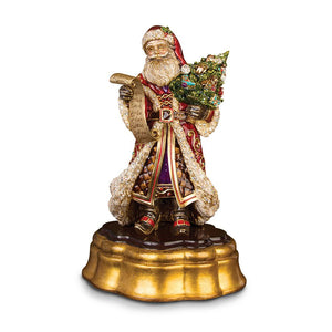 Jay Strongwater Santa on Wooden Base