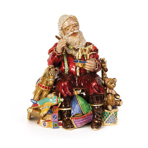 Jay Strongwater Santa's Musical Workshop Figurine