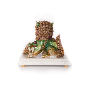 Jay Strongwater Yin Foo Dog Figurine