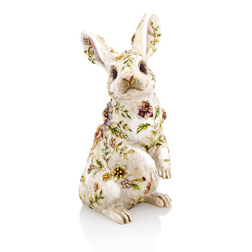Jay Strongwater Sunny Floral Bunny Figurine