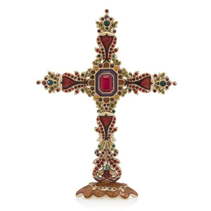 Jay Strongwater Francis Jeweled Cross