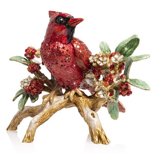 Jay Strongwater Cardinal on Branch Figurine