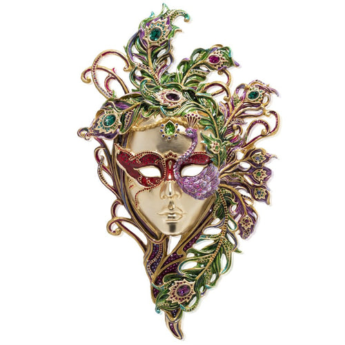 Jay Strongwater Venetian Mask with Stand