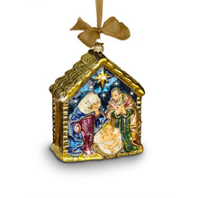 Load image into Gallery viewer, Jay Strongwater Holy Family Glass Ornament