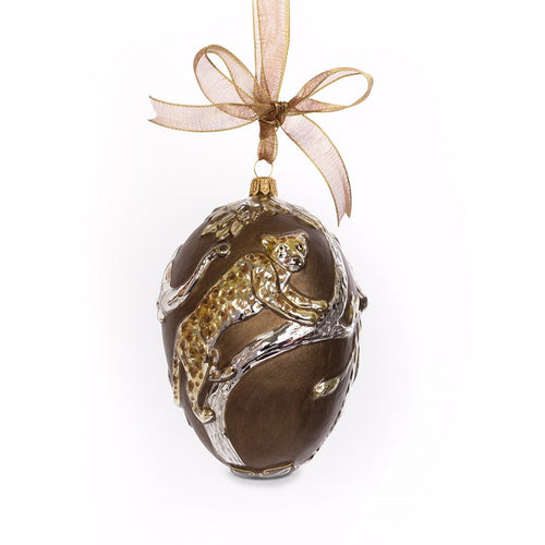 Jay Strongwater Gilded Safari Egg Glass Ornament