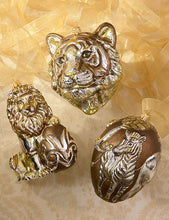 Load image into Gallery viewer, Jay Strongwater Gilded Lion with Egg Glass Ornament