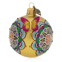 "Load image into Gallery viewer, Jay Strongwater Mandala 3"" Glass Ornament"