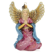 Load image into Gallery viewer, Jay Strongwater Angel Kneeling Glass Ornament