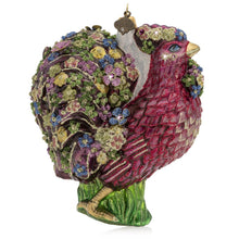 Load image into Gallery viewer, Jay Strongwater Millie Fiori Rooster Glass Ornament