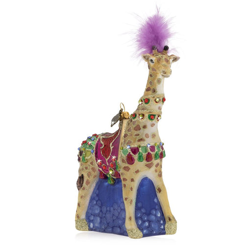Jay Strongwater Carousel Giraffe Glass Ornament