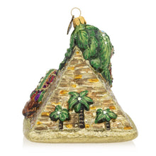 Load image into Gallery viewer, Jay Strongwater Camel and Pyramid Glass Ornament