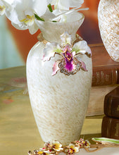 Load image into Gallery viewer, Jay Strongwater Loretta Orchid Vase