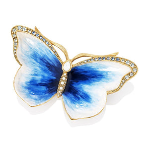 Jay Strongwater Juliet Butterfly Trinket Tray - Blue